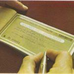 Una carta llamada cheque