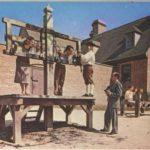 Cepos y postes para los azotes