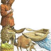 El lobo, la cabra y las coles