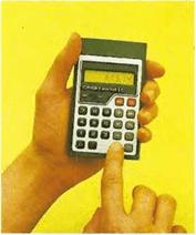 La calculadora de bolsillo es, en realidad, un ábaco moderno. Se utiliza para resolver rápidamente los problemas.